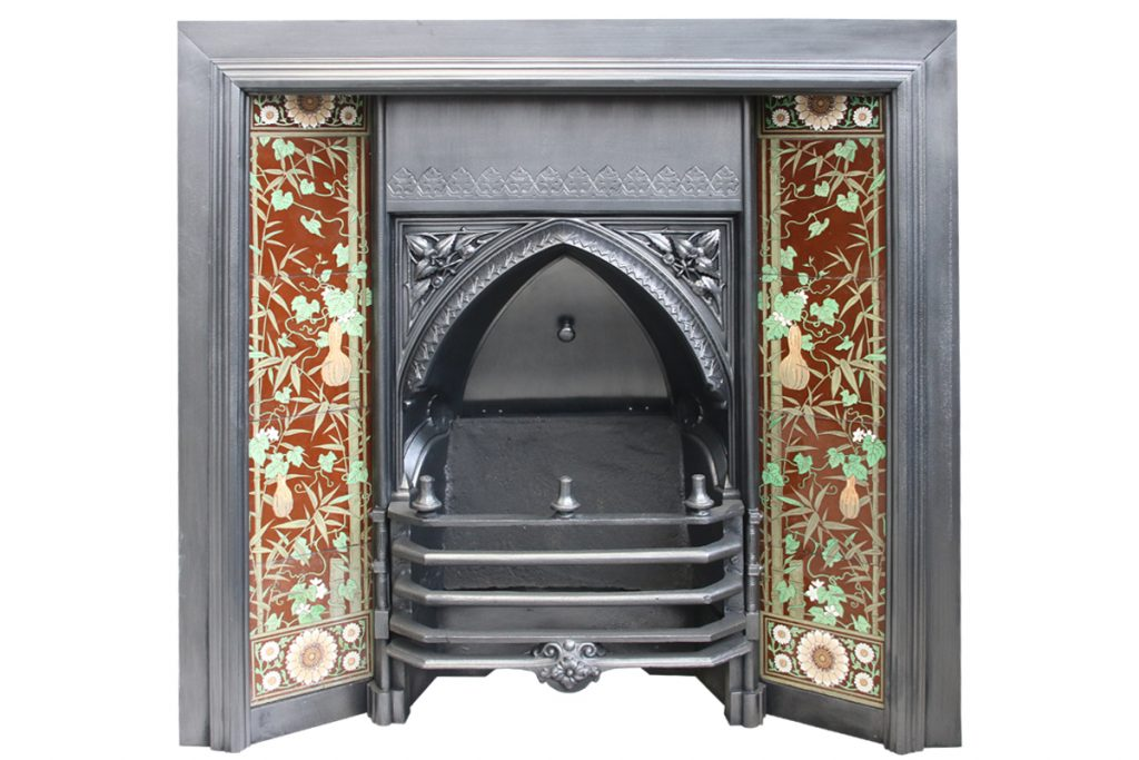 Large and rare Victorian Gothic fireplace insert-0