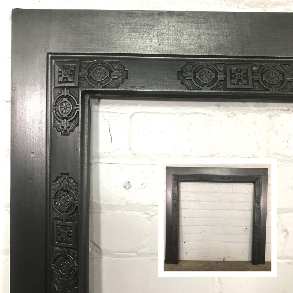 Restored Victorian cast iron fireplace reducer-0