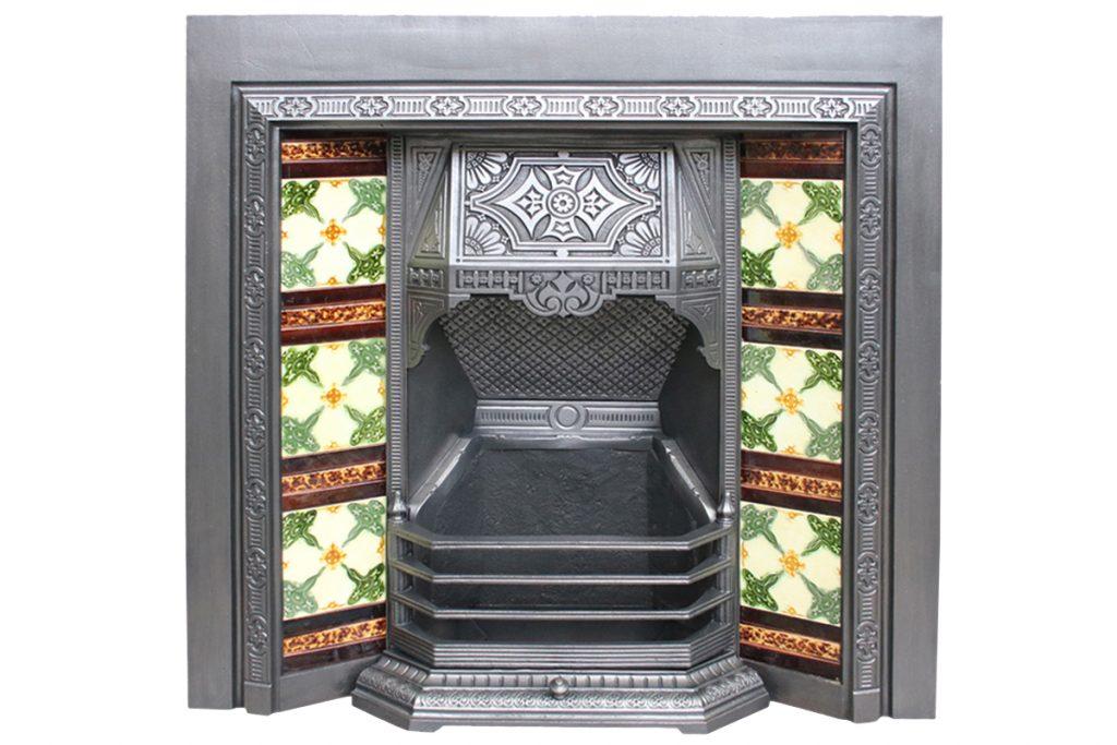 Reclaimed Aesthetic Victorian tiled grate. -0