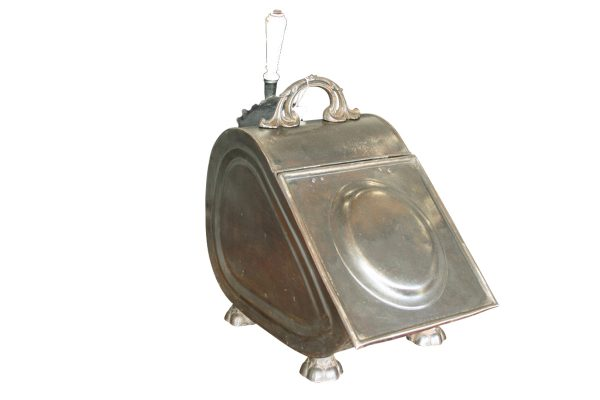 Antique late Victorian steel coal box-0