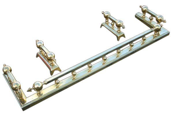 Antique Victorian brass kerb fender -0