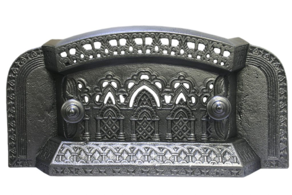 Antique Victorian Gothic cast iron Tidy Betty-0