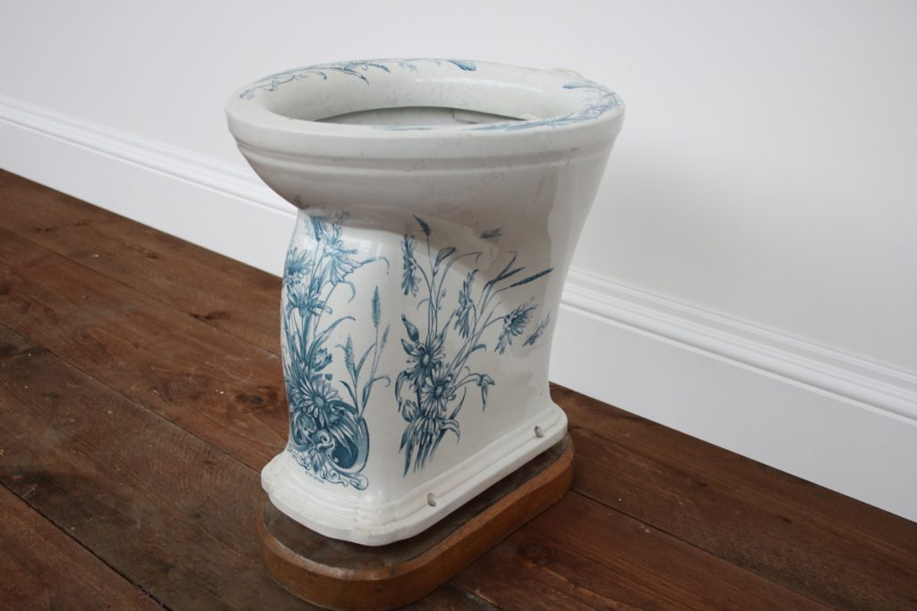 The Burrator an antique Victorian blue and white toilet-0