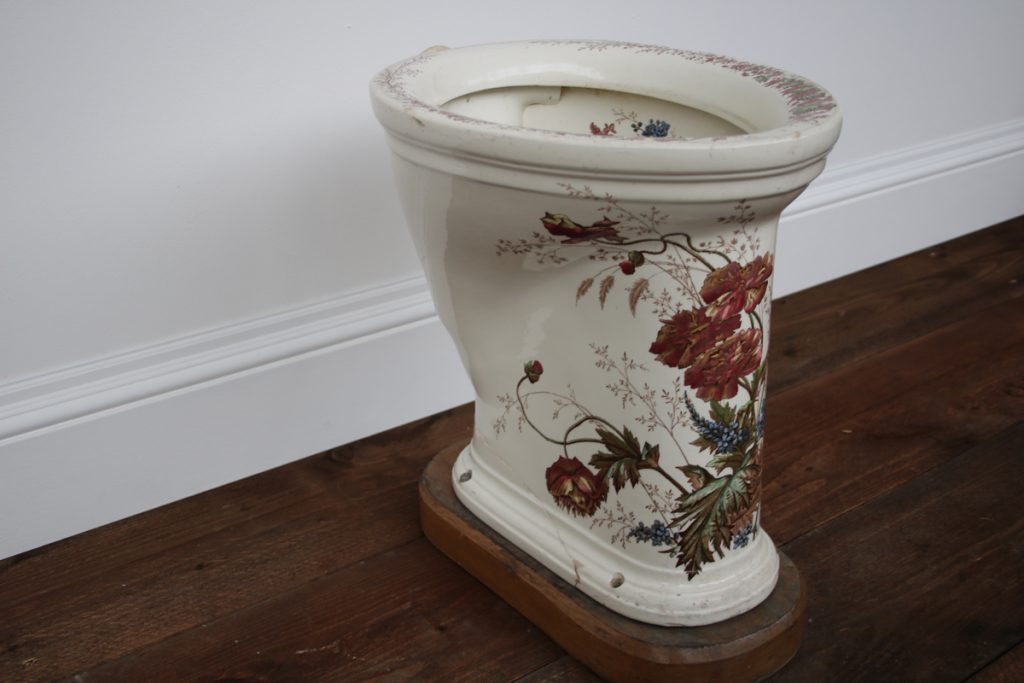 Invictas Antique Victorian polychrome toilet-0