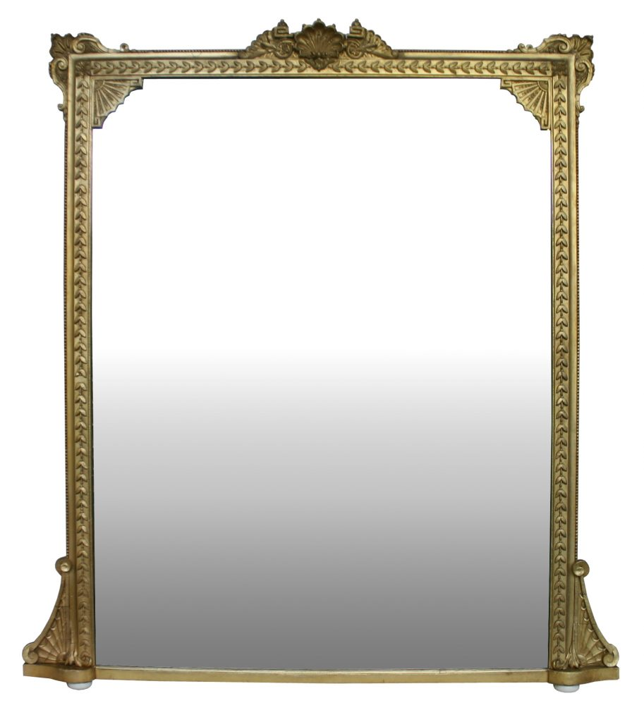 Large 19th Century giltwood overmantle mirror-0