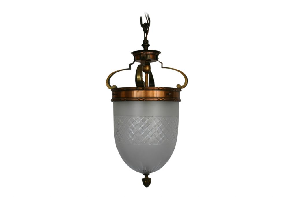 Early 20th Century cut glass lantern-0
