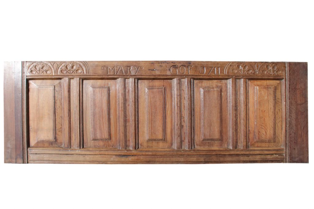 Large 18th Century carved oak panel-0