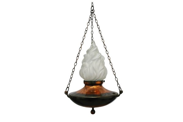Early 20th century sanctuary style pendant light -0