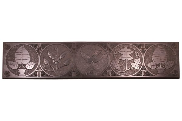 Large mid 19th century decorative folk art carved slate panel-0