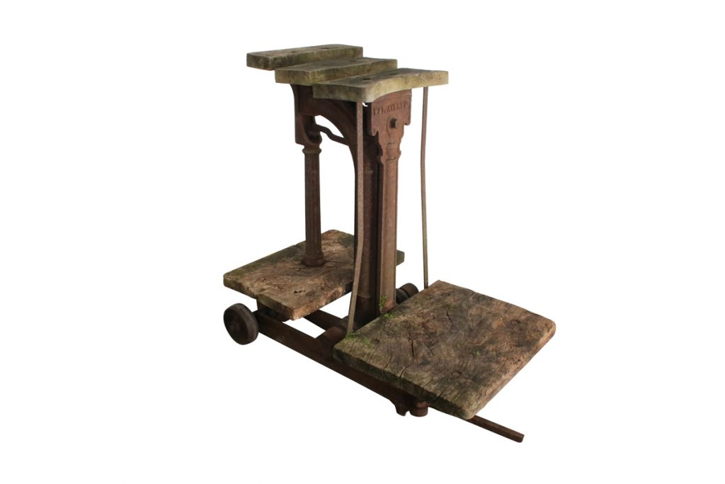 Early 20th century cast iron sack weighting scales produced by W&T Avery Ltd-0