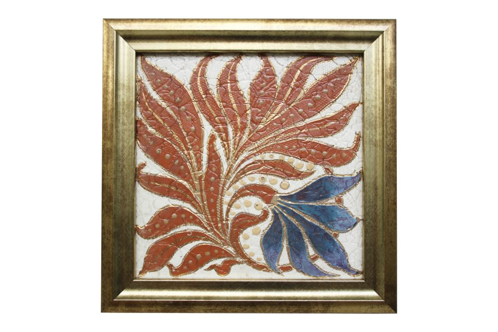 A framed, antique Victorian Royal and Doulton Lambeth tile.-0