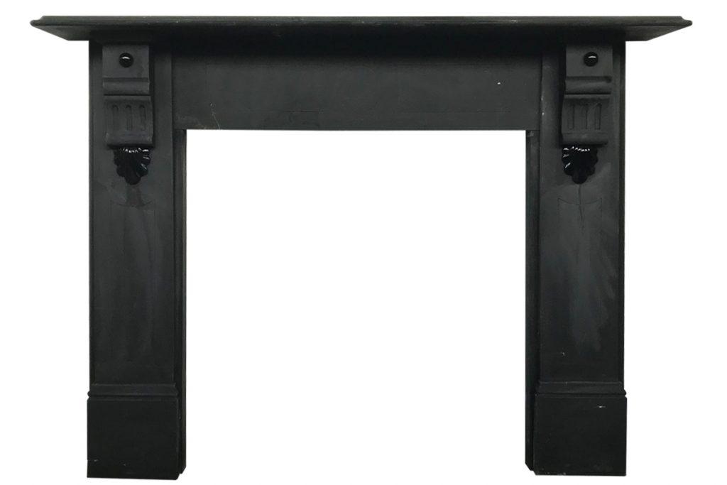 Late Victorian slate fireplace surround-0