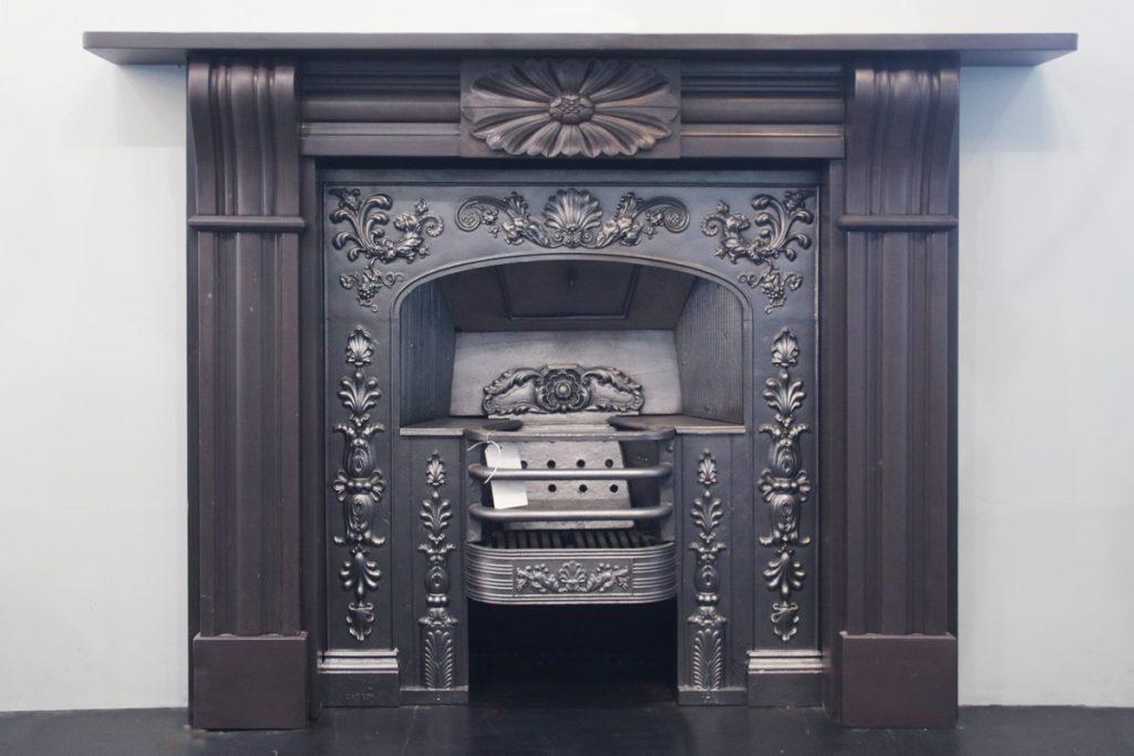 Antique Regency carved slate fire surround-0