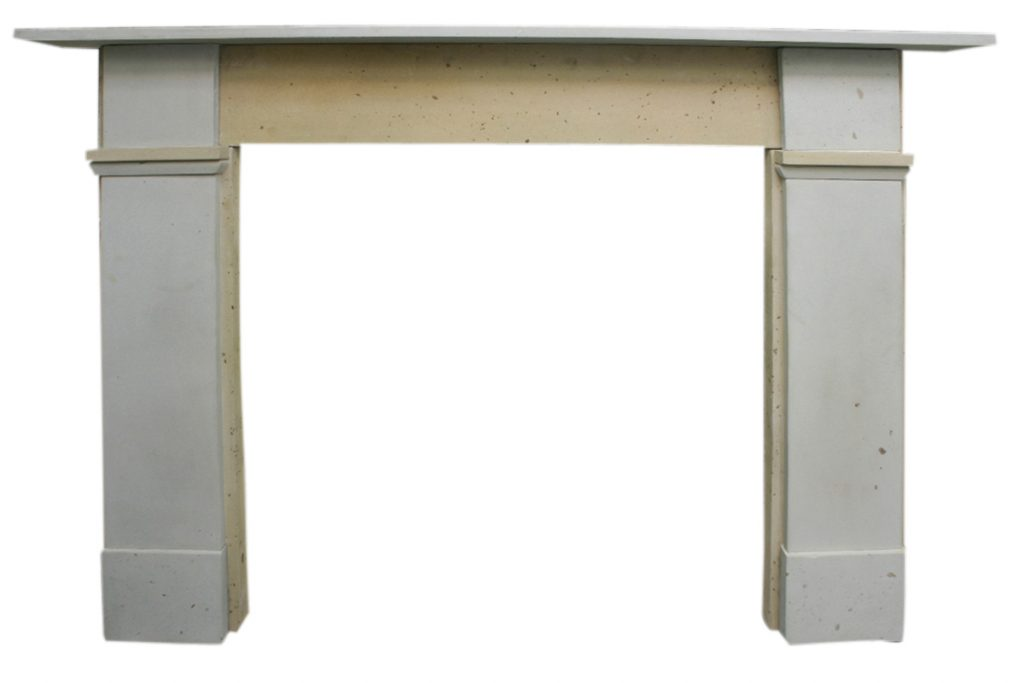 Reclaimed Victorian stone fireplace surround of simple form-0