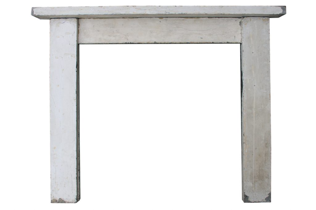 Reclaimed antique early Victorian stone fireplace surround-0
