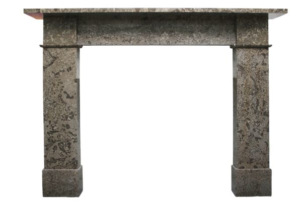 Antique Victorian Derbyshire limestone fireplace surround-0