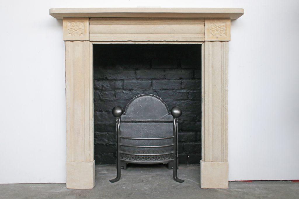 Antique Regency Bath Stone Fireplace Surround-0
