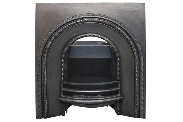 Antique mid Victorian cast iron fire grate -0