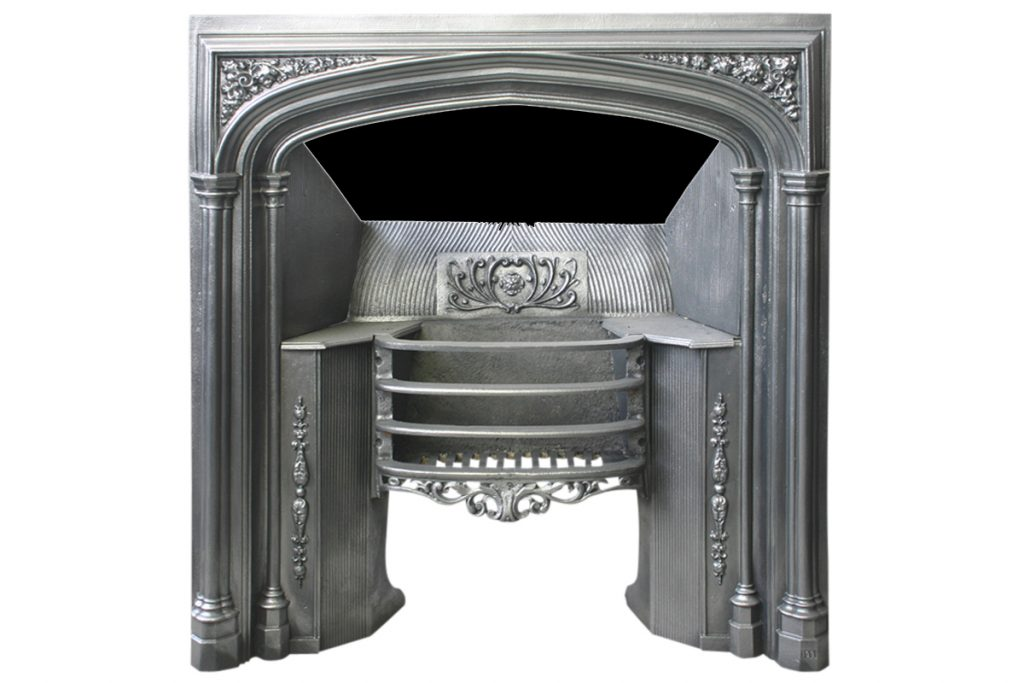 19th Century Victorian Gothic Cast Iron Hob Grate-0