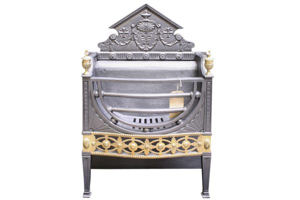 Antique Victorian Neo-Classical dog grate-0