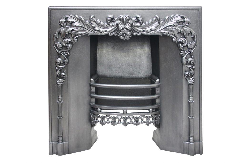 An ornate 19th century William IV cast iron register grate-0