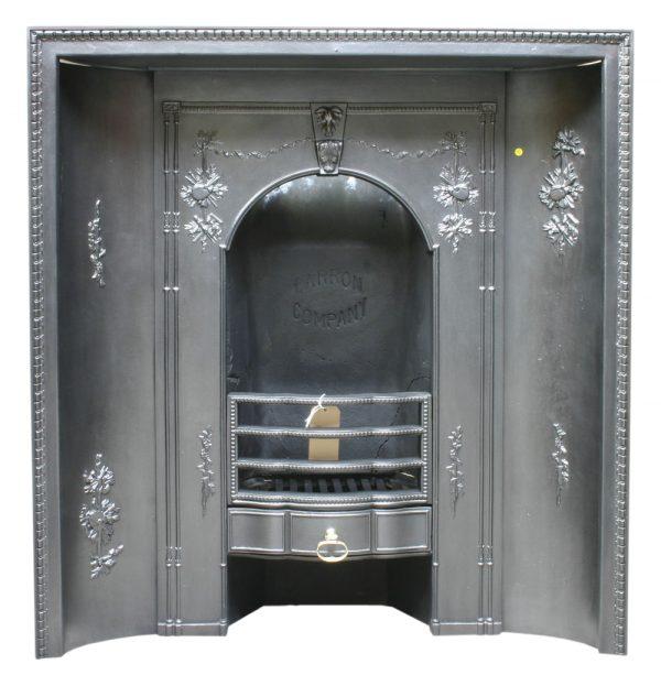 Antique cast iron Carron fireplace insert.-0