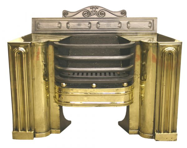 Antique brass Regency hob grate-0