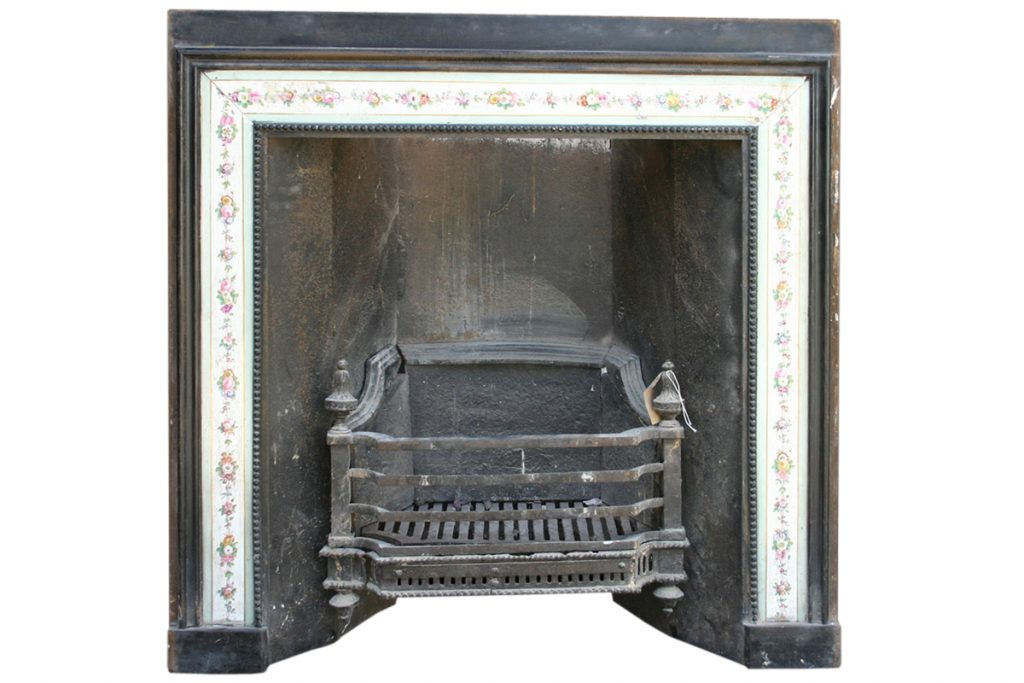 Rare reclaimed cast iron Regency register grate. -0