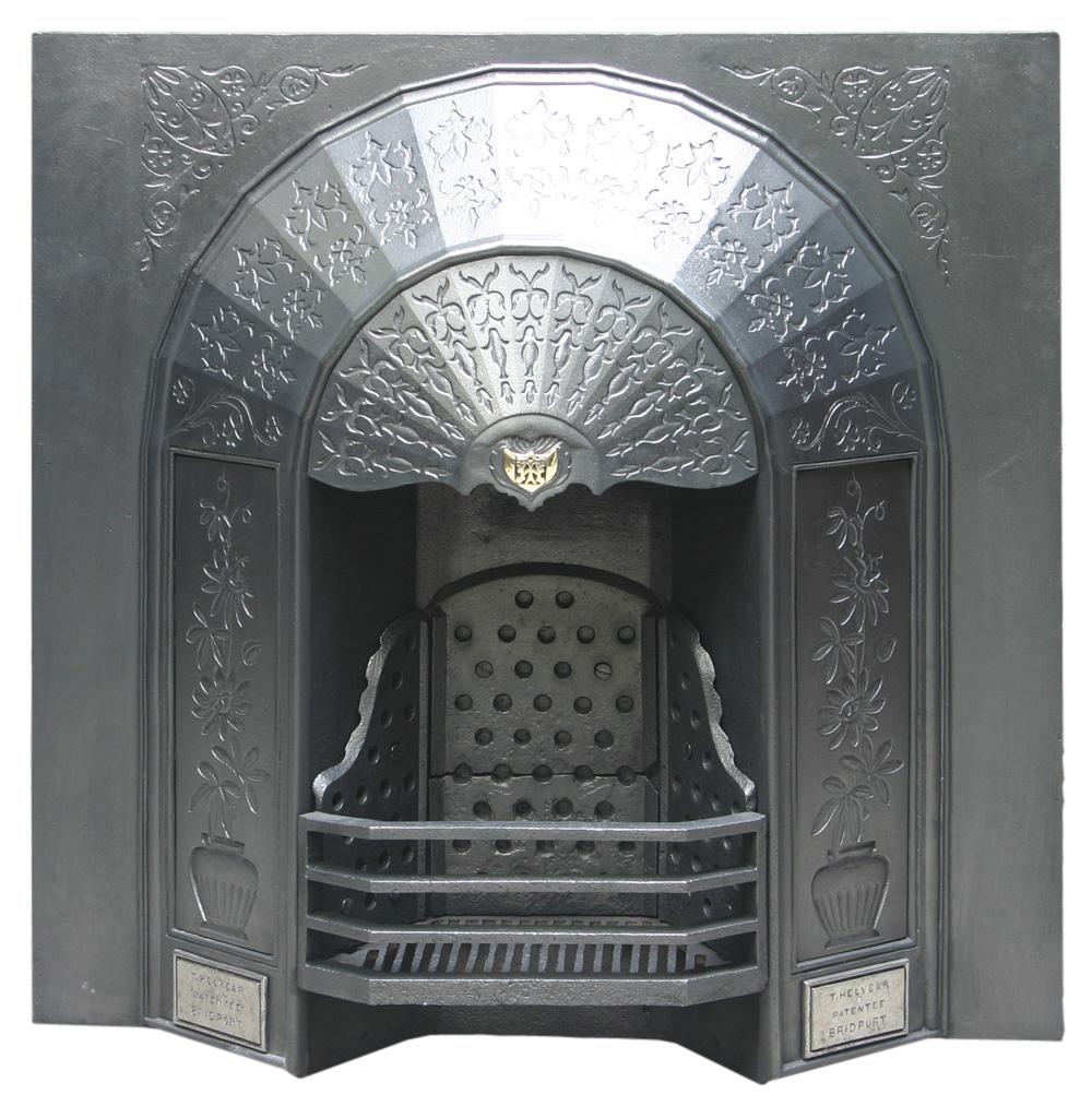 Antique Victorian arched convex register grate -0