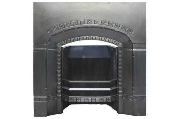 Antique cast iron gothic grate.-0