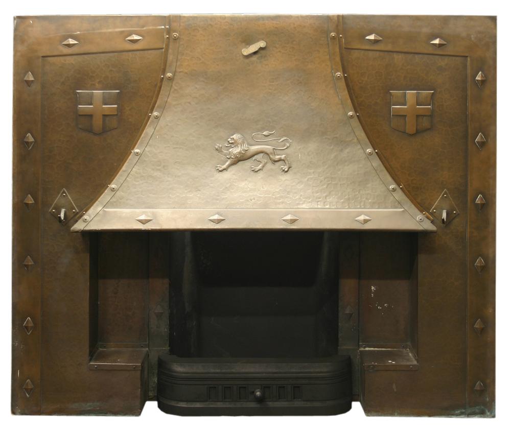 Antique Edwardian copper insert -0