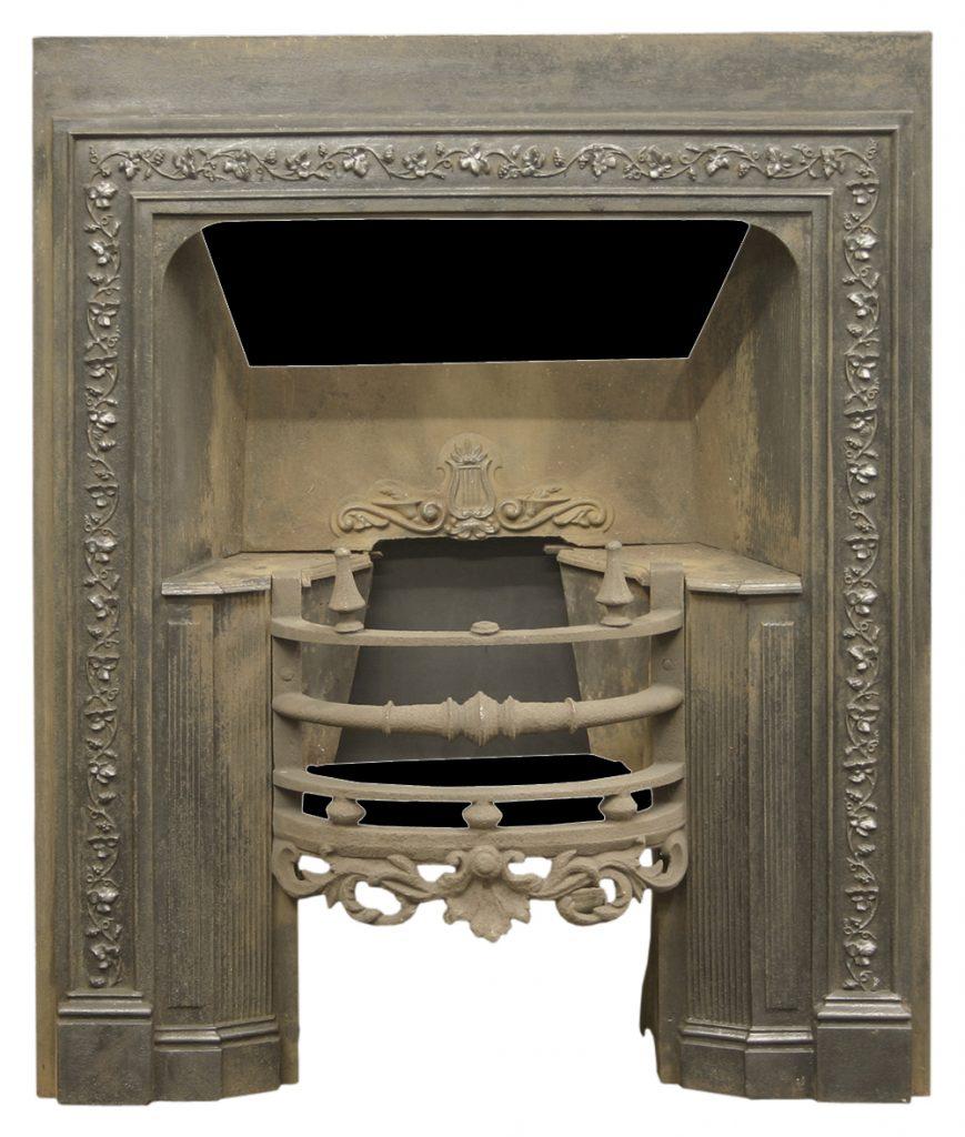 Reclaimed antique William IV cast iron hob grate-0