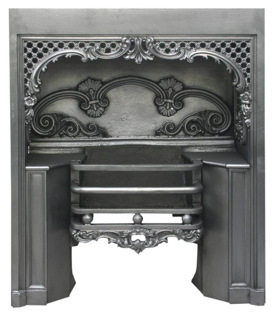 Antique William IV cast iron hob grate -0