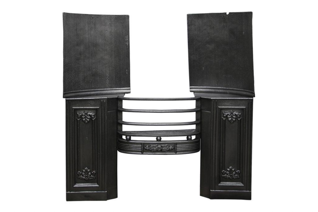 Reclaimed antique cast iron Regency hob grate -0
