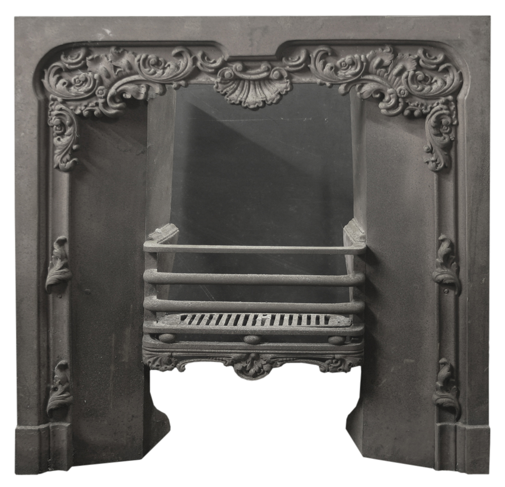 Antique Georgian cast iron register grate-0