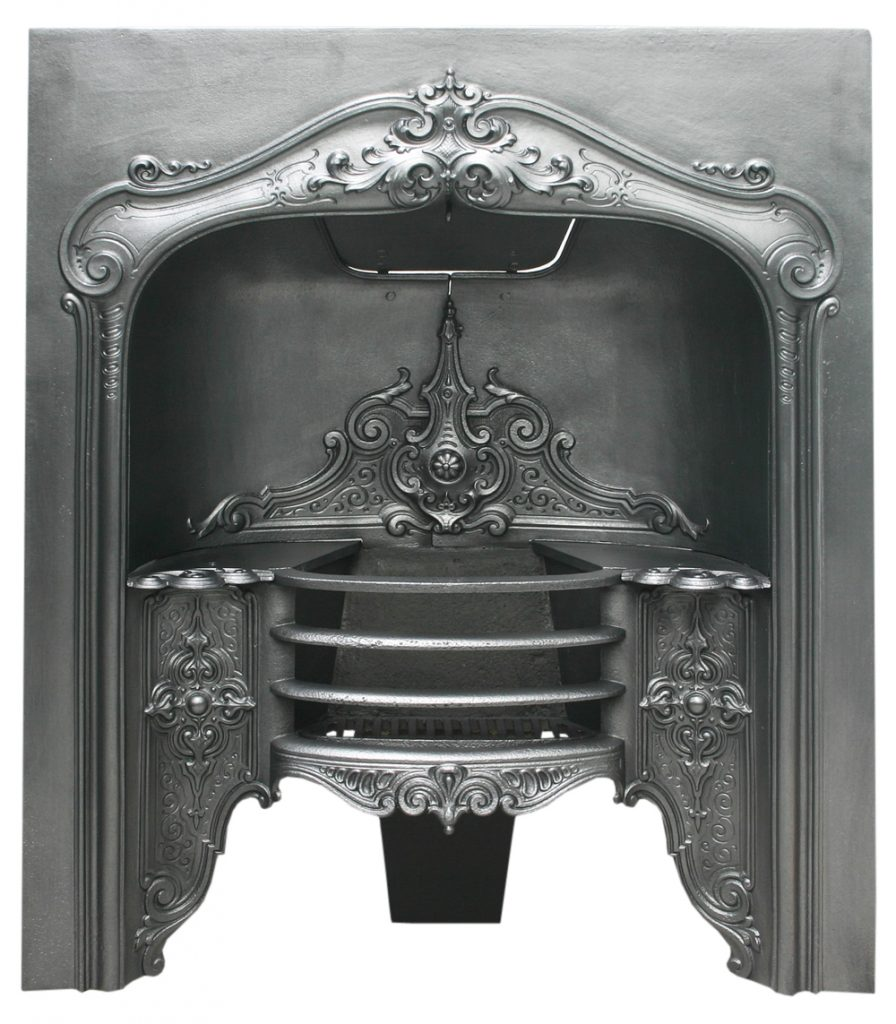 Salvaged antique William IV cast iron hob grate-0