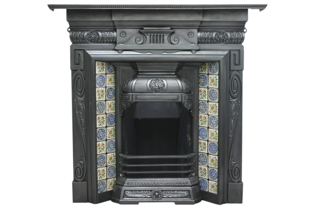 Late 19th century cast iron Combination Fireplace-0