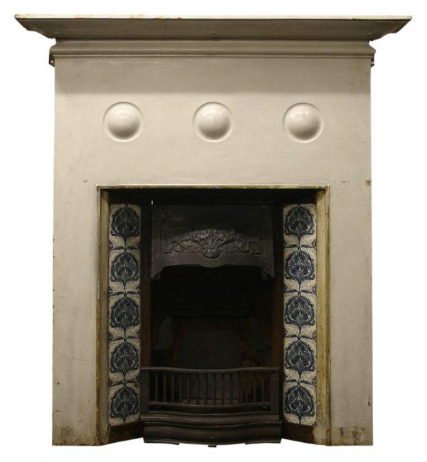 Antique cast iron Art Nouveau fireplace-0