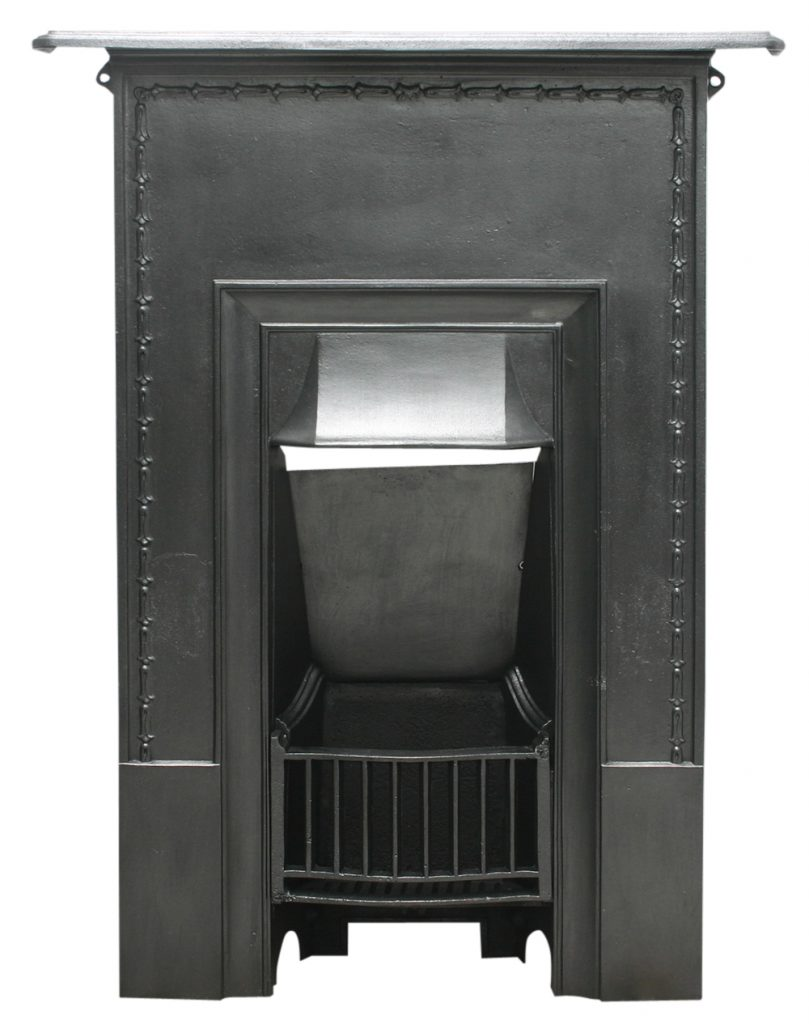 Reclaimed Edwardian cast iron combination fireplace-0