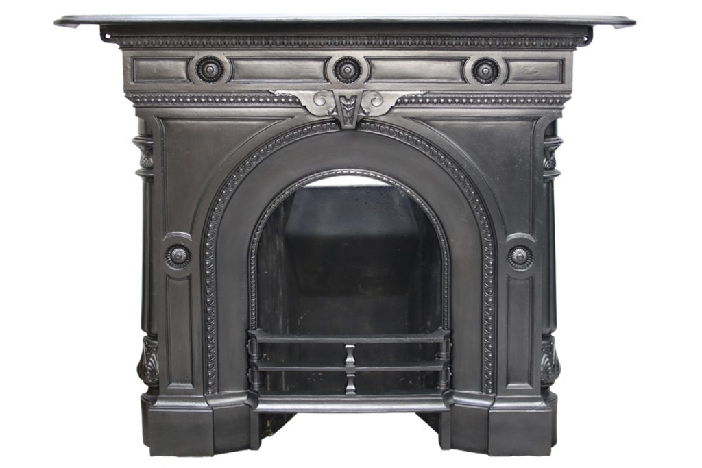 Mid Victorian cast iron combination fireplace-0