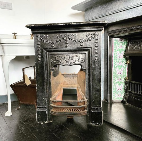 Reclaimed Edwardian cast iron combination fireplace-0