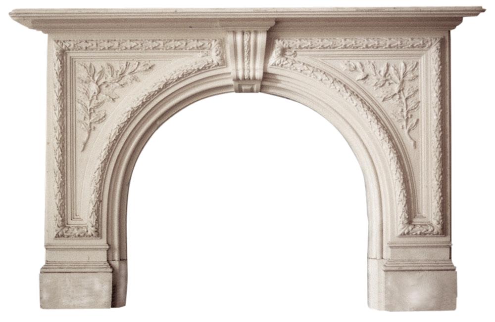 Antique Victorian white Statuary marble surround -0