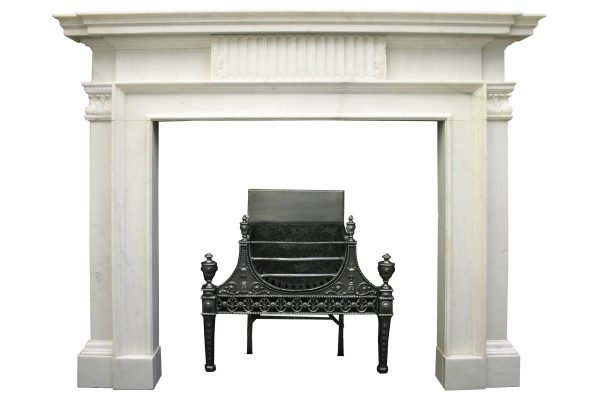 Antique 18th Century statuary marble chimneypiece.-0