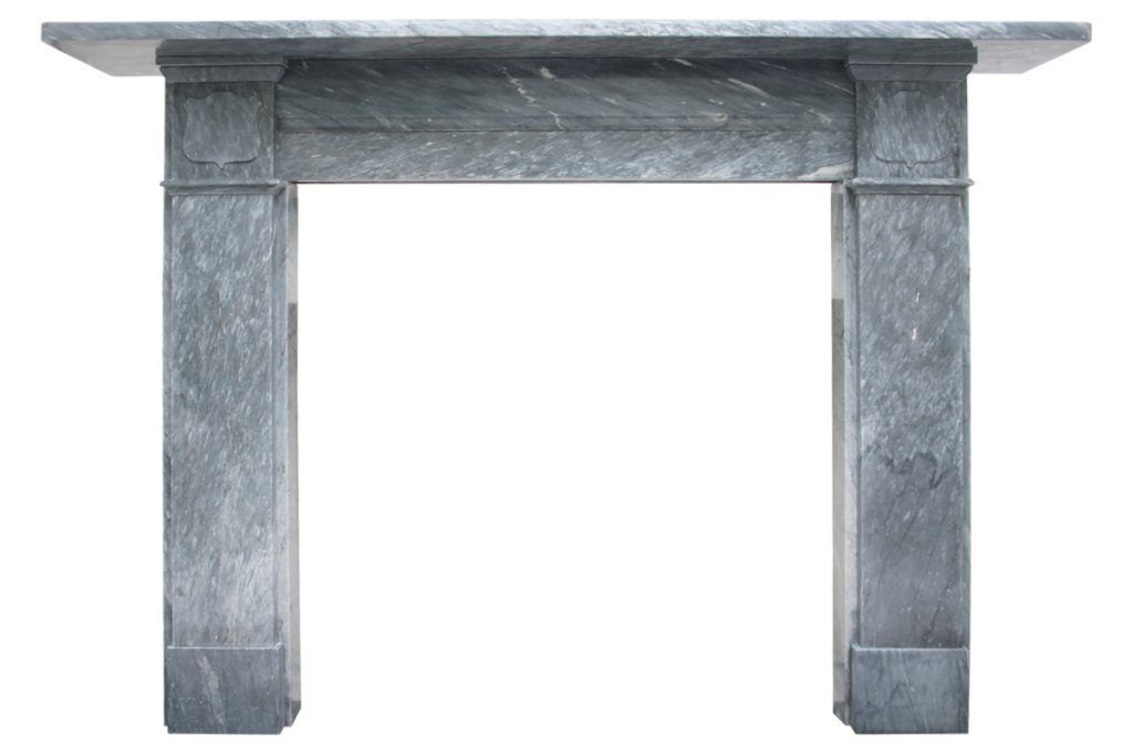 Reclaimed mid Victorian grey Bardiglio marble fireplace surround-0