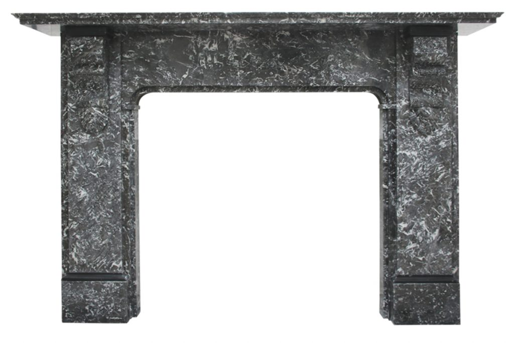 19th Century Victorian St Anne marble fireplace surround-0