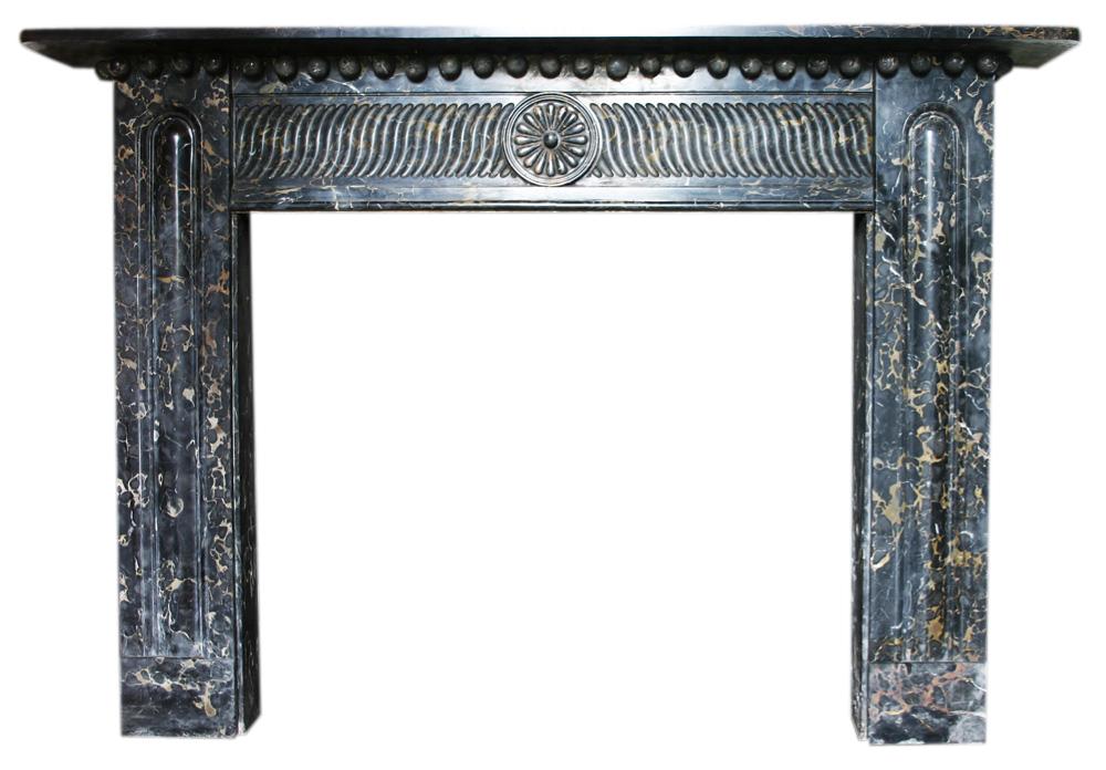 Antique Regency Portoro marble chimneypiece.-0