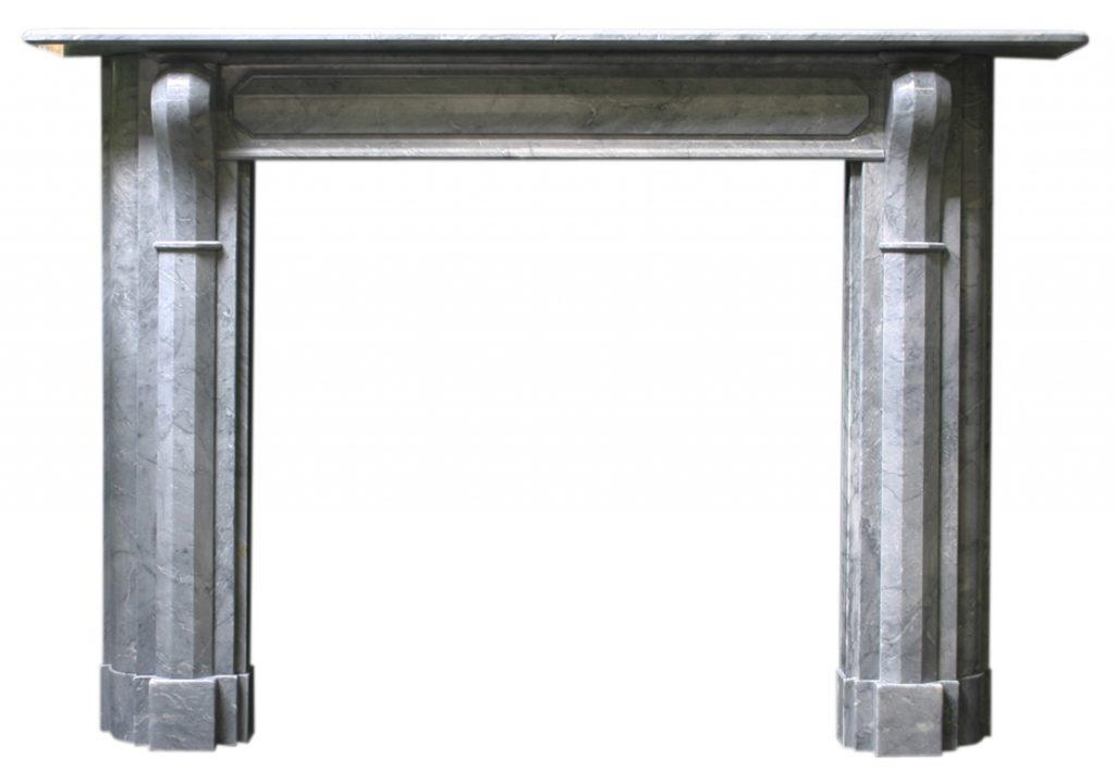 Antique Regency Irish grey marble fireplace surround-0