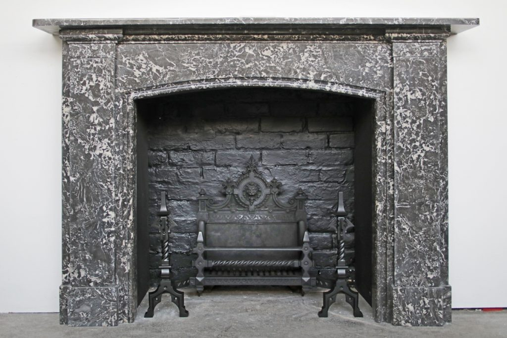 Late 19th Century Victorian St Anne marble fireplace surround-0