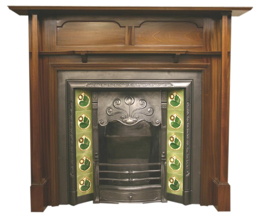 Reclaimed early 20th century mahogany fire surround-0