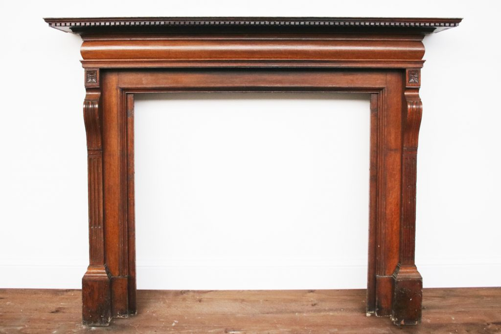 Reclaimed Edwardian oak fireplace surround-0